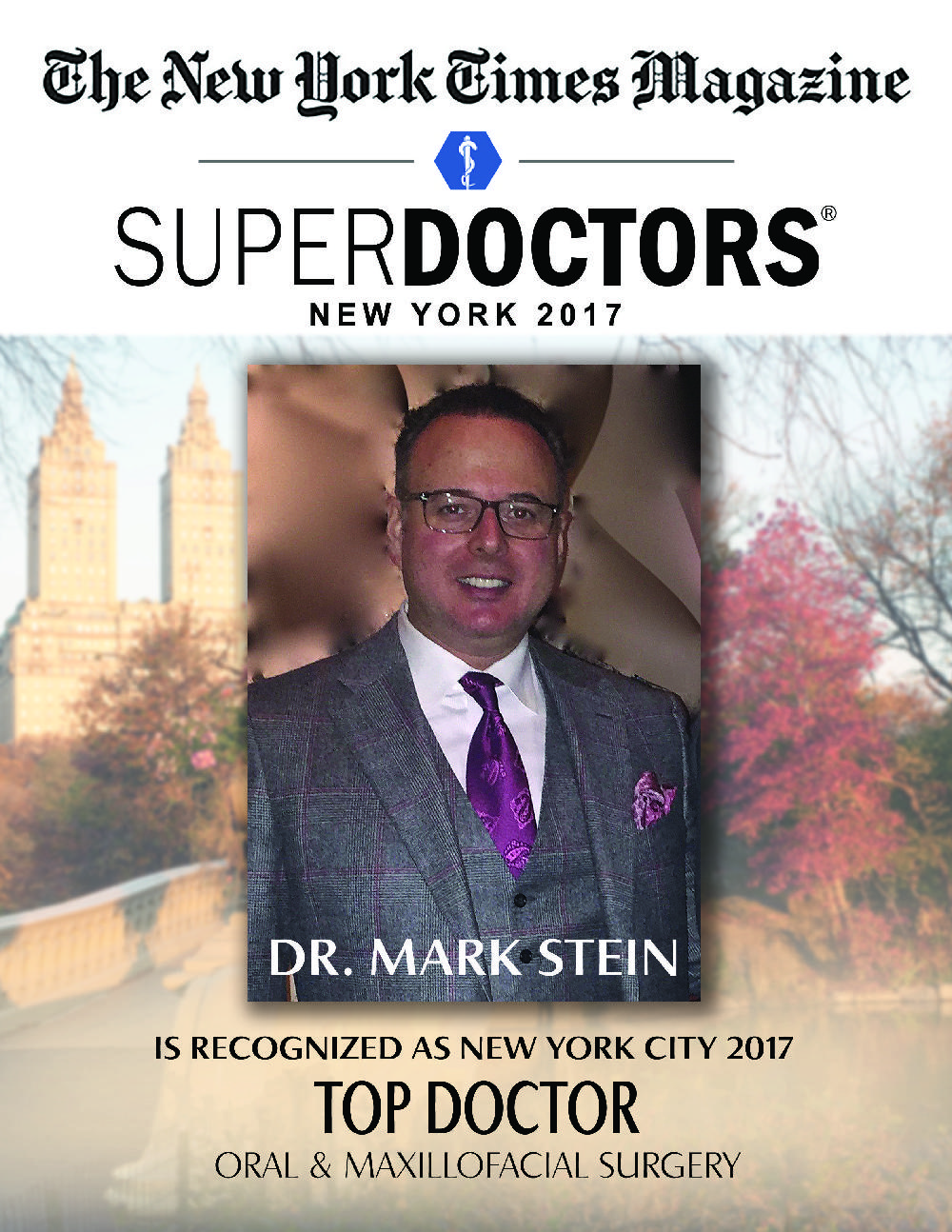 Dr. Mark Stein named NY Times Magazine Super Doctor 2017 for NYC
